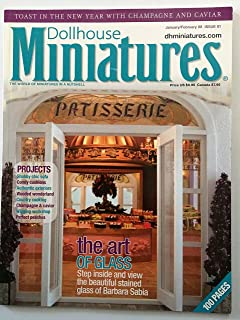 Dollhouse Miniatures. Single Issue Magazine. 100 Pages. January February 2008. Issue 01