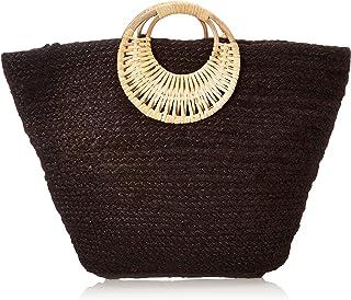 PIECES Pclillo Straw Bag Sww, con asa. para Mujer, Keine Angabe