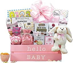 Wine Country Gift Baskets Welcome Home Baby Girl Basket Congratulations Newborn Pink New Arrival Baby Shower Gift