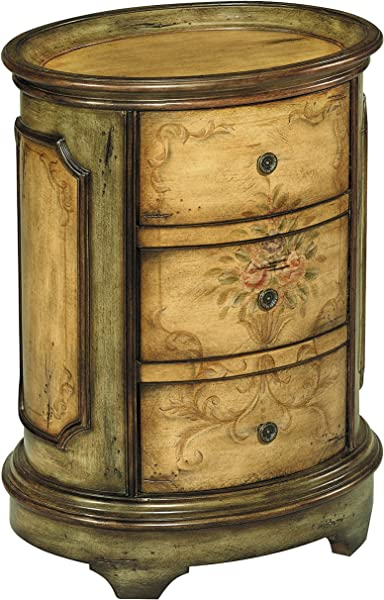 Stein World Furniture Dover Accent Table Antique Green Brown