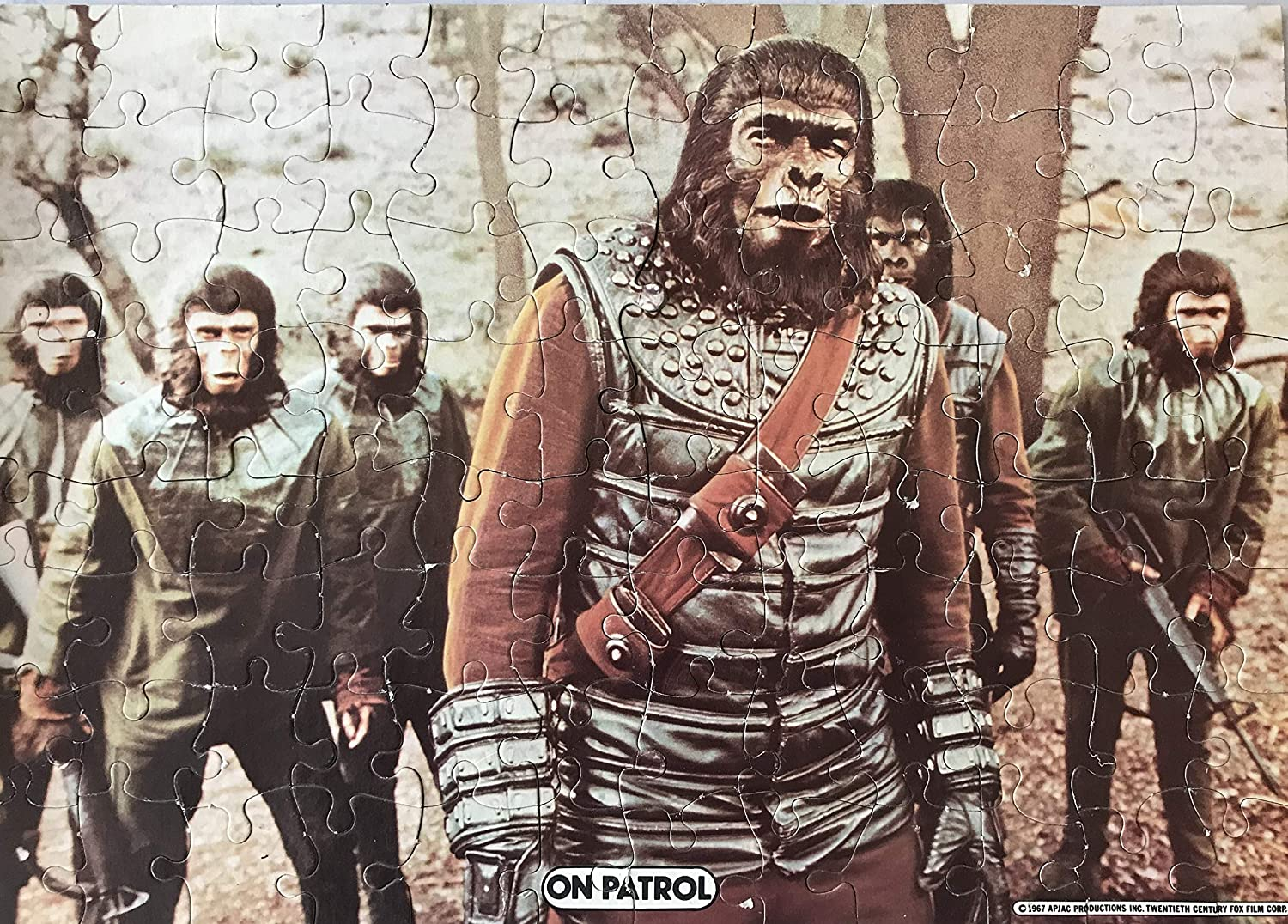 Planet of the Apes Vintage 1967 96 Piece Large Jigsaw Puzzle HG Toys 10  X 14  On Patrol  Fantastic Condition And Comes In The Original Box