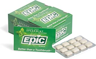 Epic Dental 100% Xylitol Sweetened Gum (Spearmint, 12-Count Blister Packs (Pack of 12))