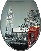Wc-bril & toiletdeksel wc-deksel wc-deksel met softclosemechanisme 43x37cm (London)