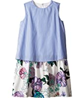 Versace Kids - Layered Striped & Floral Print Dress (Big Kids)