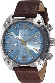 ساعة ديزل اوفرفلو انالوج بعقارب بمينا ازرق للرجال - DZ4340