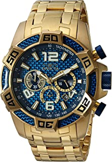 Men's Pro Diver Quartz Diving Watch with Stainless-Steel Strap, Gold, 26 (Model: 25852)