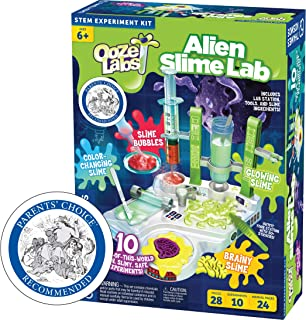 Thames & Kosmos Ooze Labs: Alien Slime Lab Science Experiment Kit & Lab Setup, 10 Experiments with Slime | A Parents' Choice Recommended Award Winner