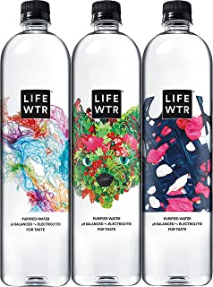 LIFEWTR, Premium Purified Water, pH Balanced with Electrolytes For Taste, 1000 mL (6..