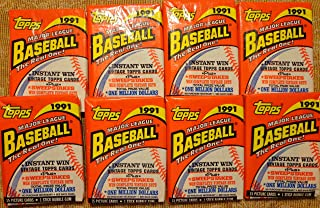 Super Deal! 8 Original, Un-opened Packs of 1991 TOPPS Baseball Cards. Look for the Atlanta Braves CHIPPER JONES ROOKIE CARD