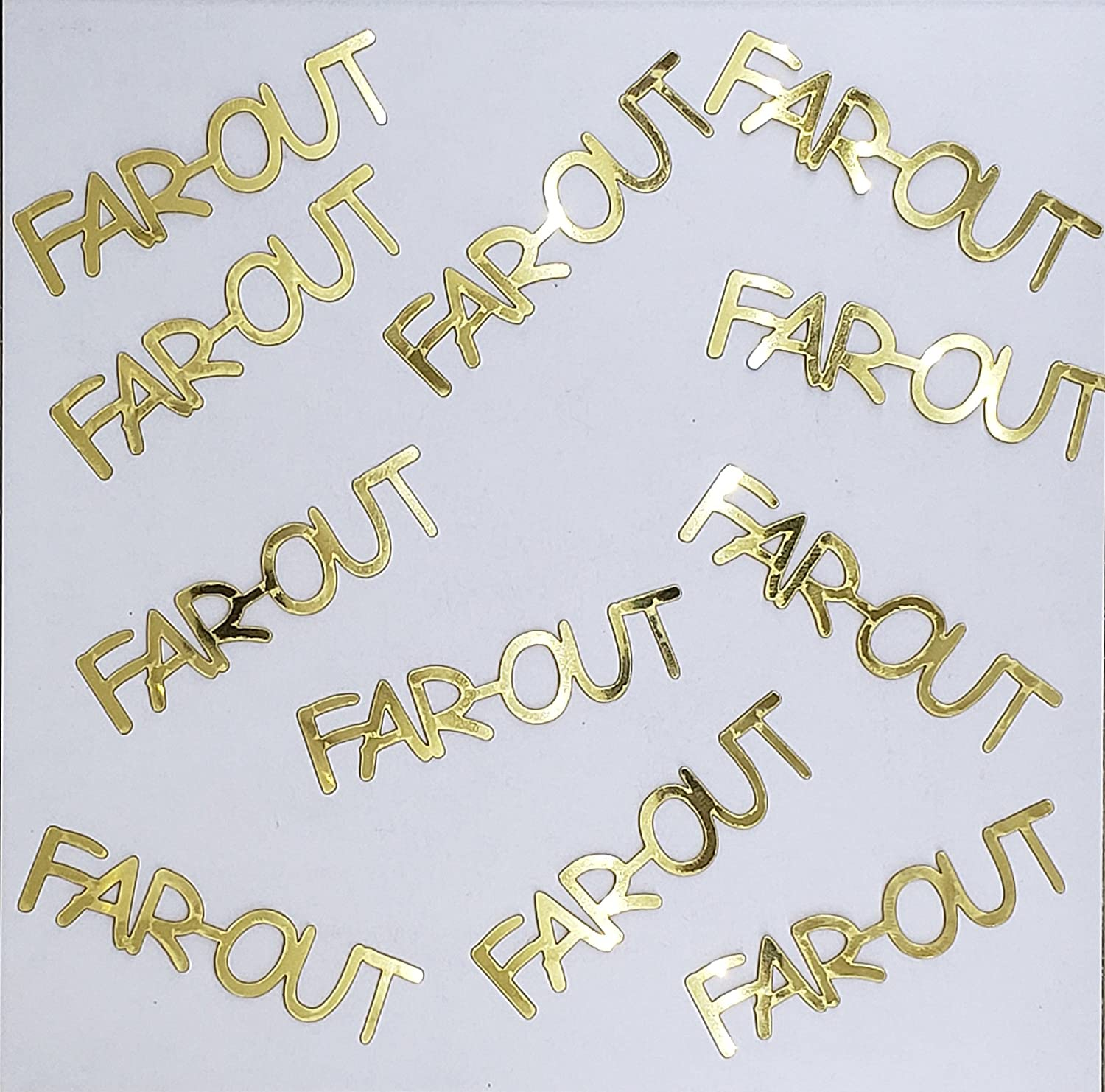 Metallic Confetti Word - Trust FAR OUT 12 in Colors Also Available