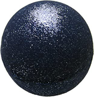 Black Bath Bomb with Silver Glitter - Large Bath Bomb 5.7oz - Anti-Aging - Epsom Salts - Coconut Oil - Kaolin Clay - Skin Moisturizers - Aromatherapy Bath - Add to Bubble Bath (Soul Cleanser w/ Silver
