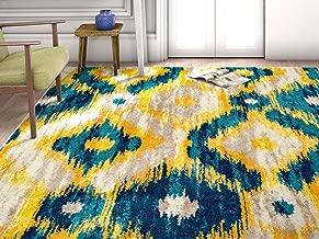 HomeWay D_cor Blue 3'3 x 4'7 Mid-century Modern shaded pattern soft Rug modern Velvety bright soft Area Rug
