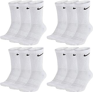 Calcetines largos para hombre y mujer, 12 pares, talla 34, 36, 38, 40, 42, 44, 46, 48, 50, color blanco, gris y negro