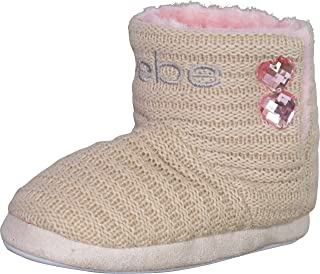 Bebe Girls Embroidered Knit Slipper Boots