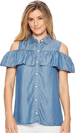 MICHAEL Michael Kors - Flounce Button Up Top