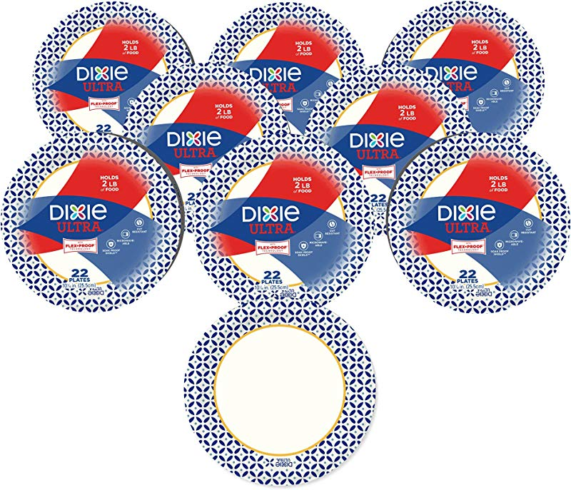 Dixie Ultra Disposable Paper Plates 10 1 16 In Dinner Size Printed 176 Count