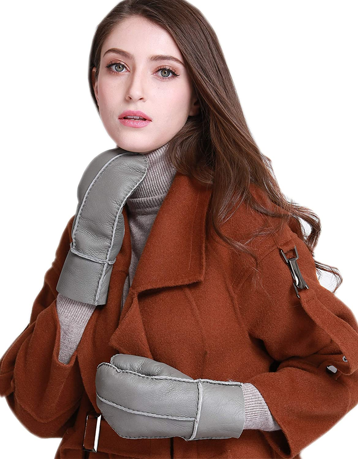 Ranking TOP1 YISEVEN Womens Winter Max 86% OFF Gloves Shearling