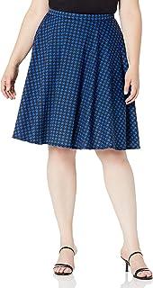 Star Vixen womens Plus-Size Full Knee-Length Ponte Knit Skater Skirt Skirt