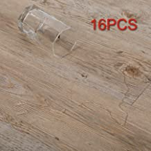 CO-Z 16 PCS 24 Square Feet, Vinyl Floor Planks Adhesive Floor Tiles, 2.0mm Thick (Ash - 24 sq ft - 1 Pack)