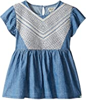 Lucky Brand Kids - Flowy Mixer Top in Chambray (Big Kids)