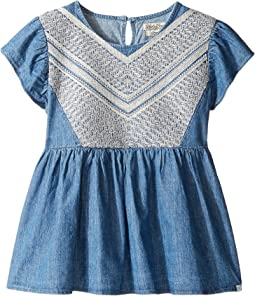 Flowy Mixer Top in Chambray (Big Kids)
