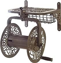 Liberty Garden 714 Decorative Cast Aluminum Navigator Rotating Garden Hose Reel, Holds 125-Feet of 5/8-Inch Hose - Bronze