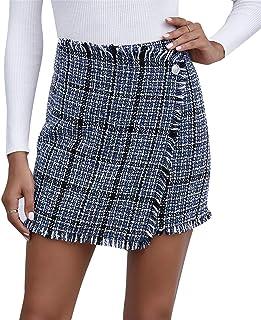 FeMereina Faldas Cortas Ajustadas para Las Mujeres - Falda Minifalda con Estampado de Leopardo
