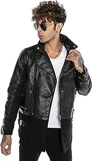 Red Bridge Men's Combination Leather Jacket