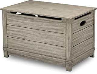 Delta Children Monterey Farmhouse Hope Chest Toy Box, Rustic White
