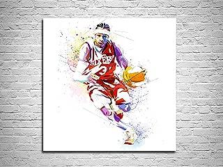 Katia Skye Canvas Print Allen Iverson 2 Basketball Poster (12x12)
