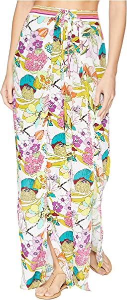 Key West Botanical Wrap Pant Cover-Up