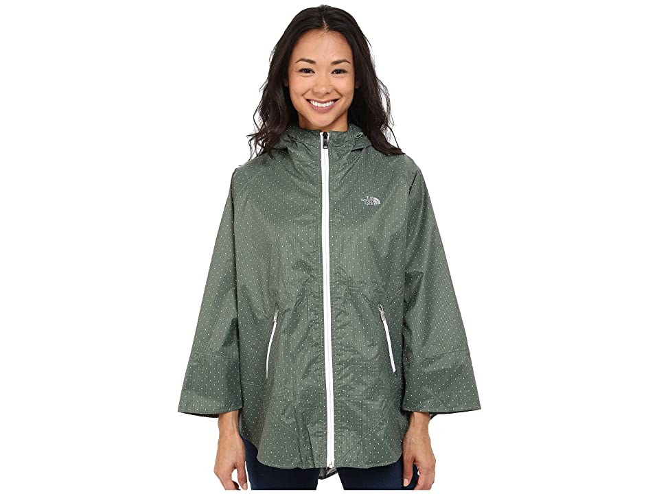 The North Face Mindfully Designed Poncho (Laurel Wreath Green Classic Dot (Prior Season)) Women