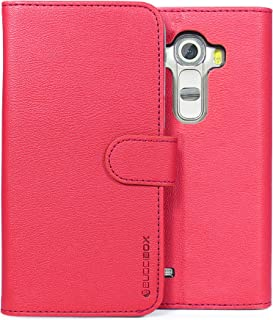 LG G4 Case, BUDDIBOX [Wallet Case] Premium PU Leather Wallet Case with [Kickstand] Card Holder and ID Slot for LG G4, (Pink)
