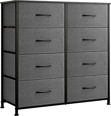 Reyade Vertical 8-Drawer Dresser, 4 Tier Storage Tower, Fabric Bins, Organizer Unit for Bedroom, Hallway, Entryway, Closets,