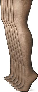 No Nonsense Women's Sheer To Waist Toe Pantyhose 6-Pack