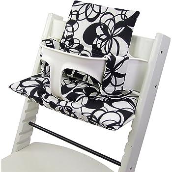 Beschichtetes Sitzkissen Sitzverkleinerer Kissen von UKJE f/ür Stokke Tripp Trapp Beschichtet Praktisch und dick gepolstert Taupe Chevron Maschinenwaschbar 2-teilig /Öko-Tex Baumwolle