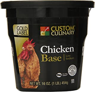 Custom Culinary Gold Label Low Sodium Base, Chicken, 1 Pound