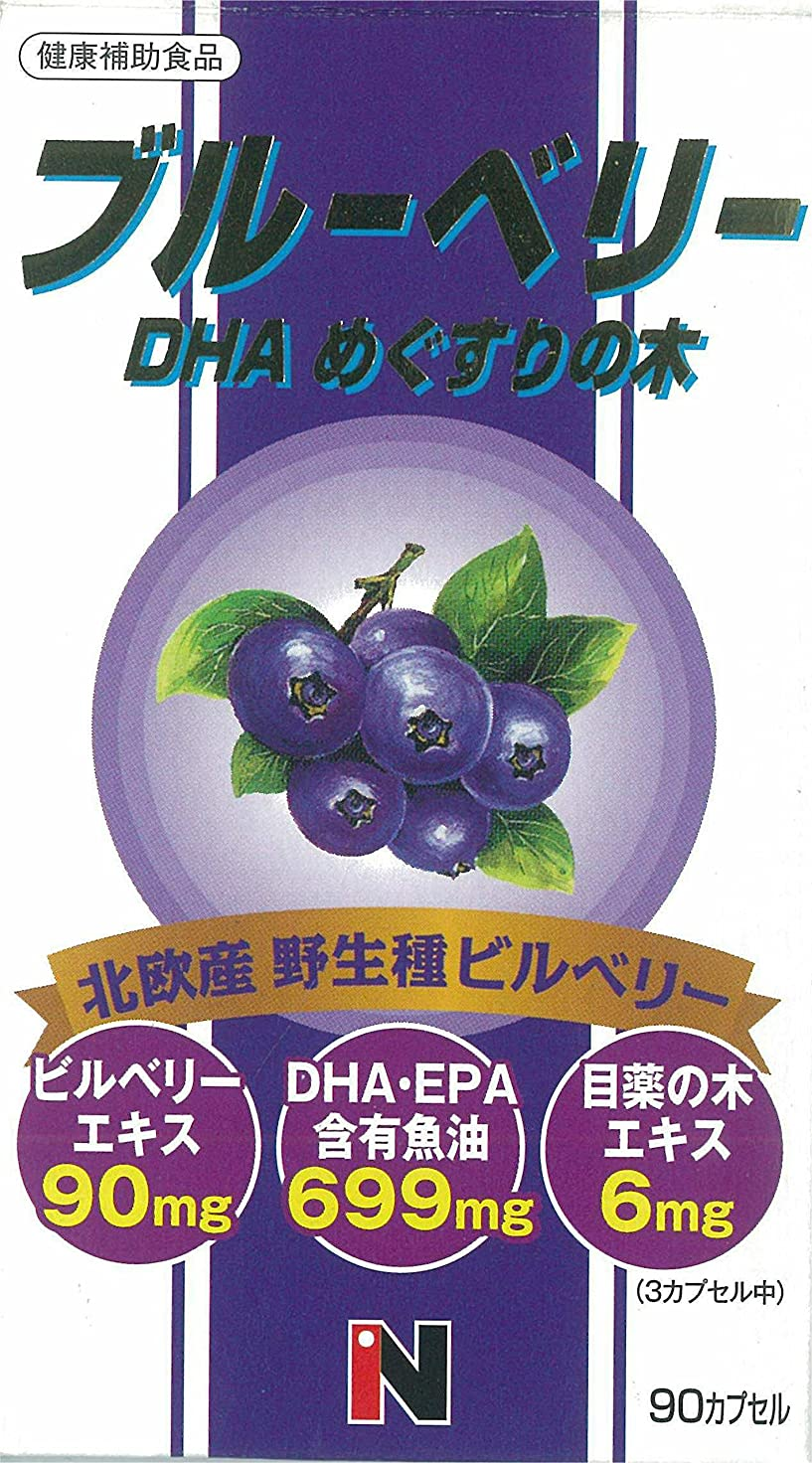 レトルトフリッパーこのブルーベリー+DHA+メグスリの木混合 450mg×90粒
