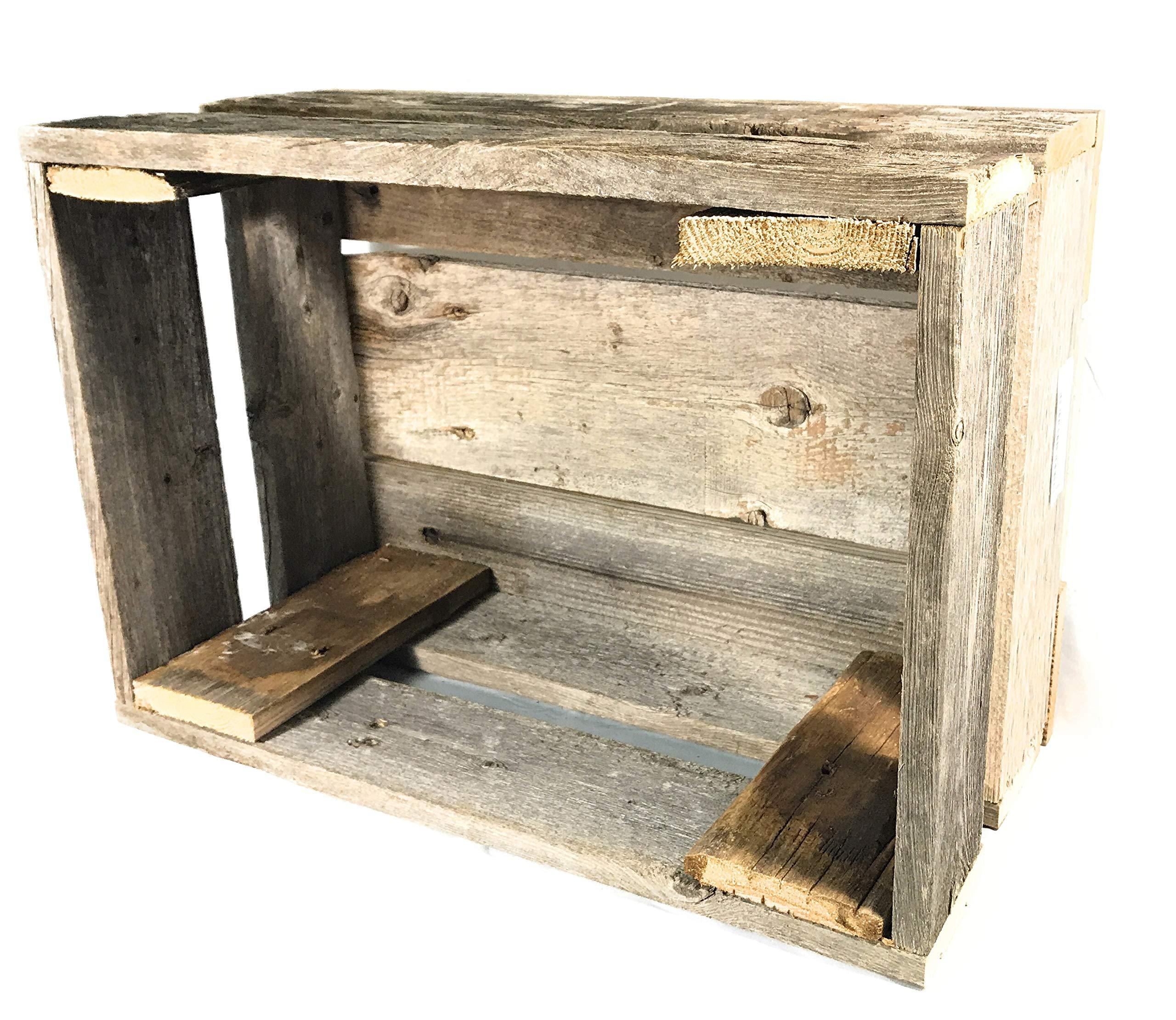 Barnwood Decor of OKC Old Farmhouse Barnwood Crate Decorative Weathered  Wood Crate