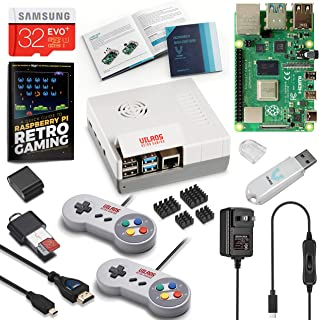 Vilros Raspberry Pi 4 Retro Gaming Kit with SNES Style Controllers and NES Style Case (4GB RAM)