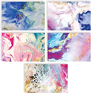 100-Pack All Occasion Greeting Cards, Assorted Blank Note Cards, 4 x 6 inch, 5 Abstract Art Designs, Blank Inside, by Bett...