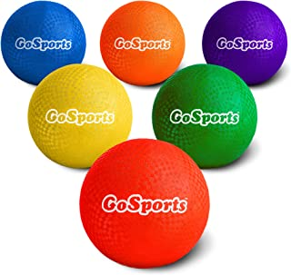 """GoSports Playground Balls for Kids (Heavy Duty Set of 6) with Carry Bag and Ball Pump (Choose 8.5"""" or 10"""" Sizes)"""
