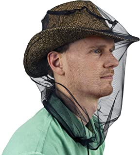 Mosquito Head Net for Insect, Fly & Bug protection - Quality Mesh Netting for Travel, Camping, Gardening, Safari & Fishing...