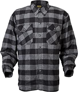 ScorpionExo Men's Covert Flannel Jacket(Black/Gray, Medium), 1 Pack