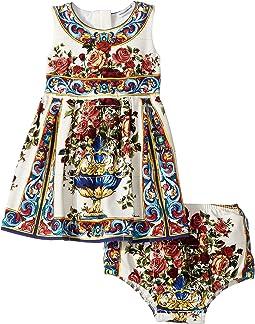 Dolce & Gabbana Kids Floral Vase Dress (Infant)