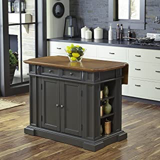 Americana Gray Kitchen Island with Drop Leaf by Home Styles