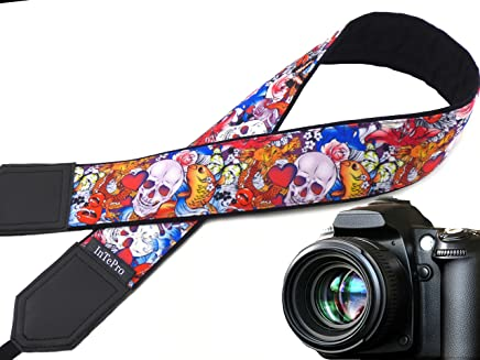 Code 00125 Dark Purple DSLR//SLR Camera Strap with North America on it Durable Light Weight and Well Padded Camera Strap World map Camera Strap