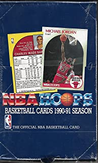 1990-91 NBA HOOPS SERIES 1 SEALED BOX MARK JACKSON MENENDEZ BROTHERS RC CARD 205