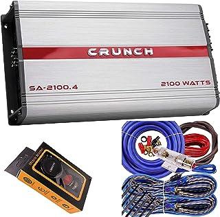 $104 » Crunch SA-2100.4 Smash Series 2,100-Watt 4-Channel Class AB Amp Car Audio Sound System Subwoofer Speaker Amp Amplifier wit...