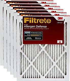 Filtrete 16x24x1, AC Furnace Air Filter, MPR 1000, Micro Allergen Defense, 6-Pack